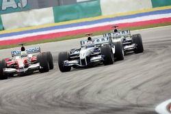 Mark Webber y Ralf Schumacher