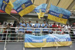 Des fans de Renault F1