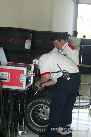 Bridgestone technicians at work