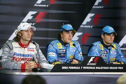 Saturday FIA press conference: Fernando Alonso, Jarno Trulli and Giancarlo Fisichella