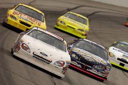 Michel Jourdain Jr. leads a pack of cars