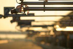 Sun reflection on refuel equipment