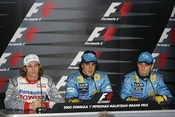 FIA Saturday press conference: Jarno Trulli, Fernando Alonso and Giancarlo Fisichella