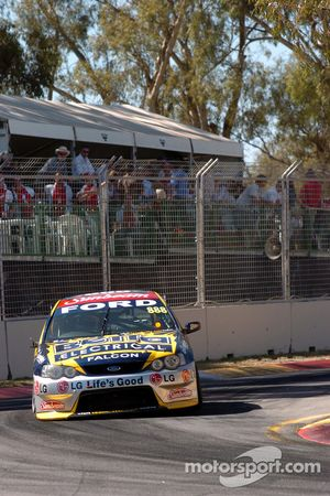 Craig Lowndes on his way to second spot