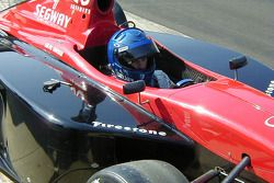Al Unser awaits his first run