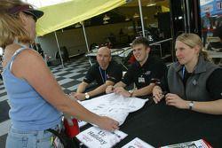 Gareth Ridpath, Clint Field and Liz Haliday