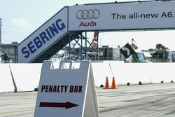 Penalty box ready for the race