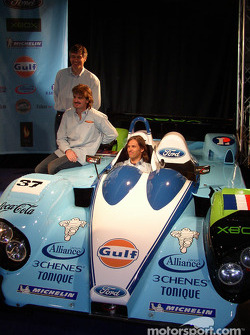 Paul Belmondo sits in the Courage C65 Ford