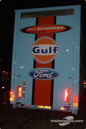 The Paul Belmondo Racing transporter