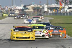 Restart action: #3 Corvette Racing Corvette C6-R: Ron Fellows, Johnny O'Connell, Max Papis