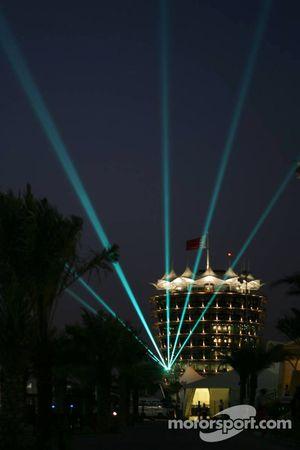 Light show in Bahrain International Circuit paddock
