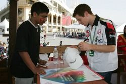 Autograph session for Anthony Davidson