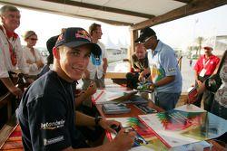 Autograph session for Christian Klien
