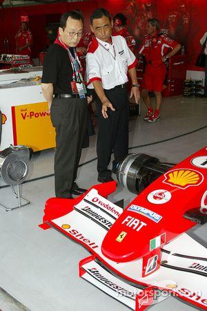VIP guests at Ferrari
