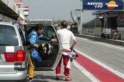 Olivier Panis and Giancarlo Fisichella
