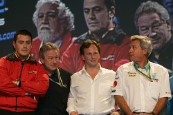 Paolo Coloni, Paul Jackson, Christian Horner and Jean-Paul Driot