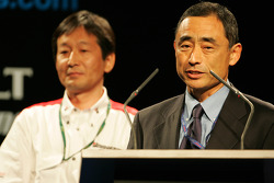 Bridgestone's Mr Yasukawa and Mr Hamamura