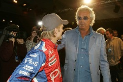 Heikki Kovalainen and Flavio Briatore