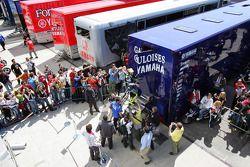 Valentino Rossi fête sa pole position