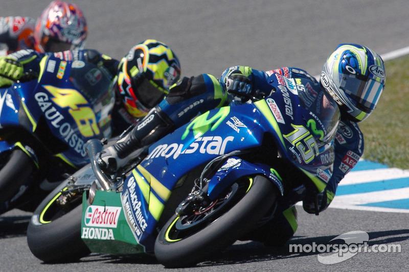 Sete Gibernau devant Valentino Rossi