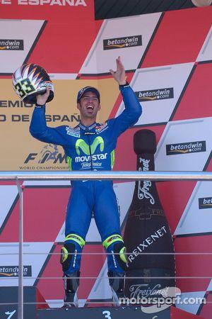 Marco Melandri sur le podium