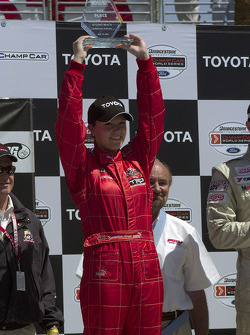 Podium: race winner Katherine Legge
