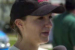 Podium: race winner Katherine Legge