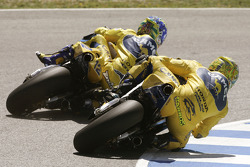 Troy Bayliss, Pons Honda; Alex Barros, Pons Honda