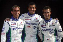 Pescarolo Sport drivers Éric Hélary, Soheil Ayari and Sébastien Loeb