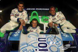 Pescarolo Sport drivers Soheil Ayari, Sébastien Loeb and Éric Hélary