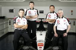 Gil de Ferran, BAR Honda Direktör, Nick Fry, BAR Honda ChielOfficer, Yasuhiro Wada, Başkanı, Honda R