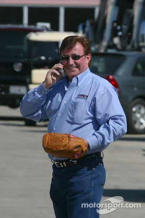 Richard Childress takes time out from baseball for a phone call