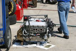 A Busch race engine sits ready to be installed