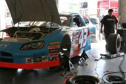 Work on Aaron Fike's Busch car