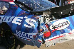 Left rear damage of Kyle Busch's car