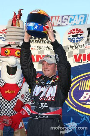 Shane Hmiel with the Pole Trophy Helmet