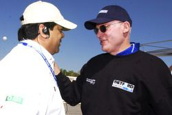 Dave Maraj congratulates Rob Dyson