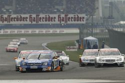 Marcel Fassler leads a group of cars