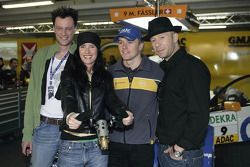 Marcel Fassler with Andy Birr, Jana Gross and Hendrick Röder from the band Bell, Book and Candle