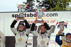 P2 podium: class winners Clint Field and Jon Field