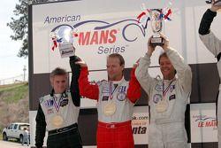 P2 podium: Ben Devlin, Gunnar van der Steur and Erik van der Steur