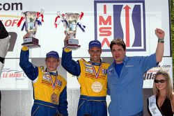 P2 podium: Jamie Bach and Guy Cosmo
