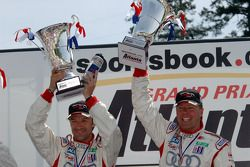 P1 podium: class and overall winners Marco Werner and JJ Lehto