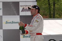 P1 podium: champagne for Marco Werner