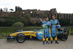 Giancarlo Fisichella ve Franck Montagny