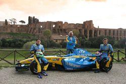 Giancarlo Fisichella, Franck Montagny ve Flavio Briatore