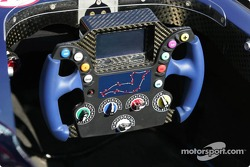 Steering wheel of the Red Bull Racing car