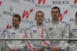 GT2 podium: Marc Hynes, Patrick Pearce, Jason Templeman