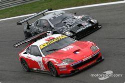 #12 Larbre Compétition Ferrari 550 Maranello: Enzo Calderari, Lilian Bryner, Steve Zacchia, #14 Lister Racing Lister Storm GT: Liz Halliday, Justin Keen