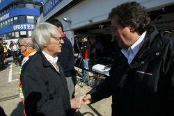 Bernie Ecclestone and Giancarlo Minardi